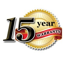 15years warranty on stonecoat